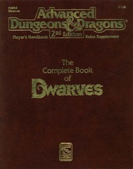 AD&D(2e) PHBR6 Complete Book of Dwarves #2124