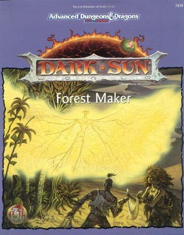 AD&D 2E Dark Sun Forest Maker Box 2430