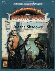 AD&D 2E Dark Sun Arcane Shadows Box 2410