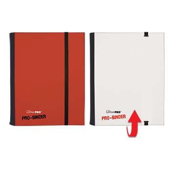 Ultra Pro 4-Pocket Flip Pro Binder - Red & White