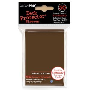 Ultra Pro - Standard Size 50 ct Sleeves - Brown