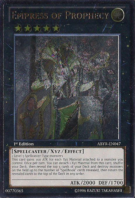 Empress of Prophecy - ABYR-EN047 - Ultimate Rare - Unlimited Edition