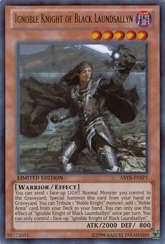 Ignoble Knight of Black Laundsallyn - ABYR-ENSP1 - Ultra Rare - Limited Edition