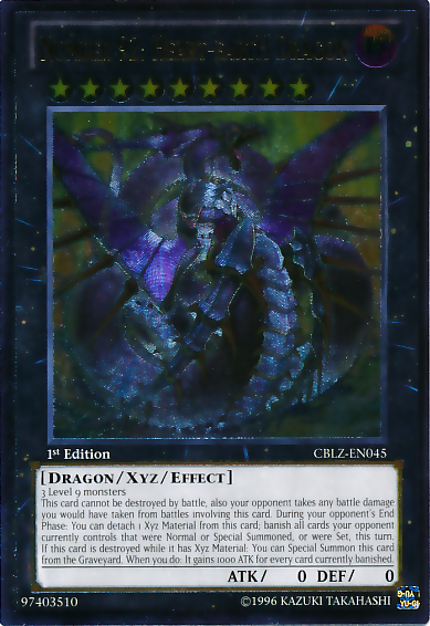 Number 92: Heart-eartH Dragon - CBLZ-EN045 - Ultimate Rare - 1st Edition