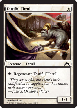 Dutiful Thrull - Foil