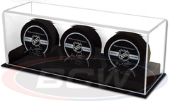 Deluxe Acrylic Triple Hockey Puck Display