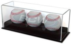 Deluxe Acrylic Triple Baseball Display