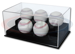 Deluxe Acrylic 5 Baseball Display