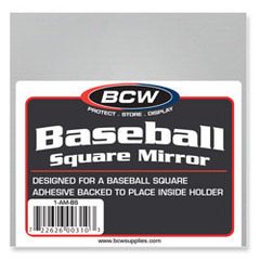 Adhesive Mirror - Baseball Square