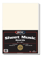 Sheet Music Backing Boards - 9 1/4 12 1/8 - Pack of 100