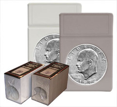 Dollar Coin Display Slab Foam Inserts - White