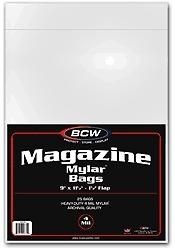 BCW MAGAZINE MYLAR 25 9 X 11 1//2 4 MIL