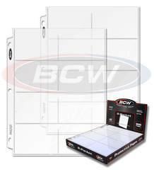 BCW Pro 8-Pocket Pages - Box of 100