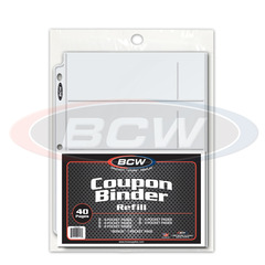 BCW Pocket Page Variety Pack - Coupon Binder Refill