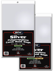 BCW Silver RESEALABLE Comic Book Bags - 7 1/8 x 10 1/2 - Pack of 100