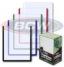 3 X 4 Topload Card Holder - Blue Border