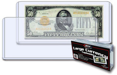 7.75 x 3.5 - Large Bill Currency Holder - Pack of 25