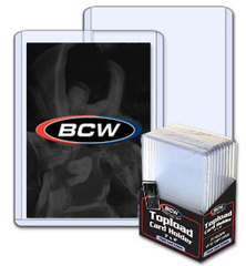 BCW 3 x 4 x 2.75 mm - Thick Card Topload Holder 108 Pt. - Pack of 10