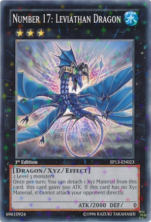 Number 17: Leviathan Dragon - SP13-EN023 - Starfoil Rare - 1st Edition