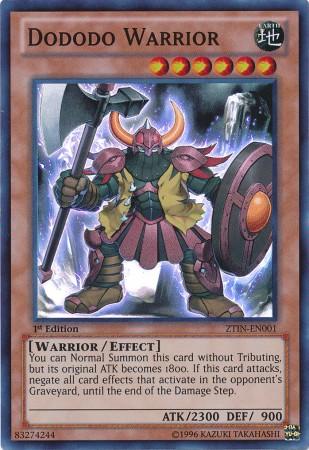 Dododo Warrior - ZTIN-EN001 - Super Rare - 1st Edition - Promo