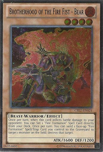 Brotherhood of the Fire Fist - Bear - CBLZ-EN024 - Ultimate Rare - Unlimited Edition