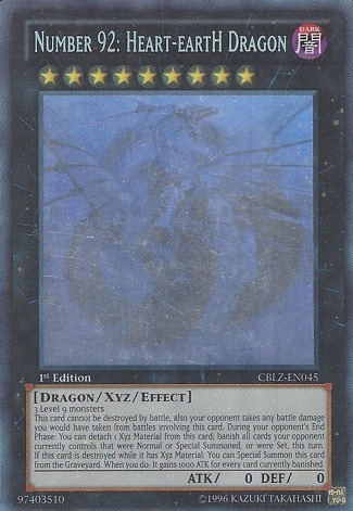 Number 92: Heart-eartH Dragon - CBLZ-EN045 - Ghost Rare - Unlimited Edition