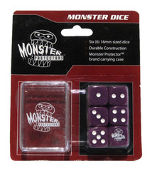 Monster Protectors - 6x D6 Monster Dice & Carrying Case - Purple