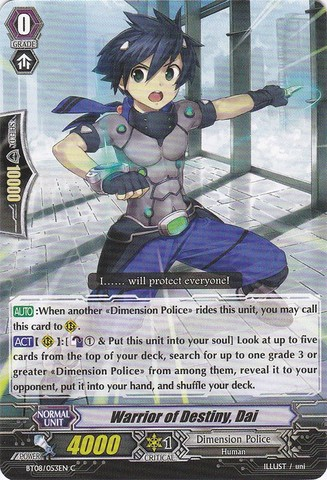 Warrior of Destiny, Dai - BT08/053EN - C
