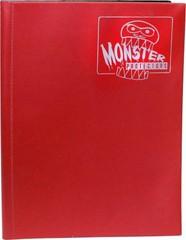 4-Pocket Monster Binder - Matte Red