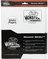 4-Pocket Monster Binder - White w/ White Pages