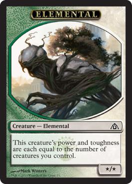 Elemental Token (Green/White)