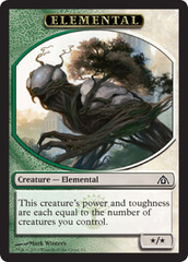 Elemental Token (Green/White)