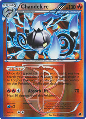 Chandelure - 16/116 - Holo Rare - Reverse Holo on Channel Fireball