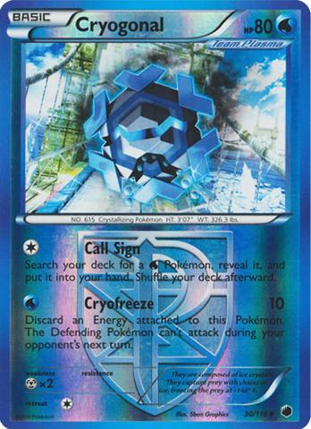 Cryogonal - 30/116 - Uncommon - Reverse Holo