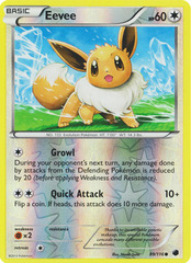 Eevee - 89/116 - Common - Reverse Holo on Channel Fireball