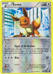 Eevee - 90/116 - Common - Reverse Holo on Channel Fireball