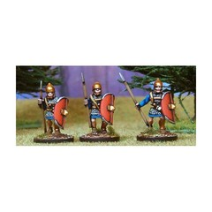 Veteran Libyan Spearmen 2. Advancing, roman equipment: chainmail, oval shield (150711-0059)