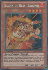 Gladiator Beast Laquari - LCGX-EN238 - Secret Rare - Unlimited Edition