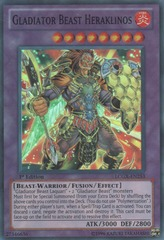 Gladiator Beast Heraklinos - LCGX-EN253 - Super Rare - Unlimited Edition