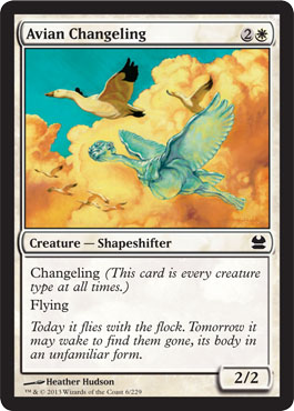 Avian Changeling - Foil