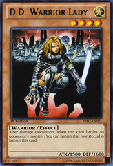 D.D. Warrior Lady - BP02-EN021 - Rare - 1st