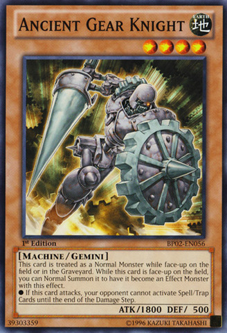 Ancient Gear Knight - BP02-EN056 - Common - 1st