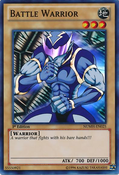 Battle Warrior - NUMH-EN025 - Super Rare - 1st Edition