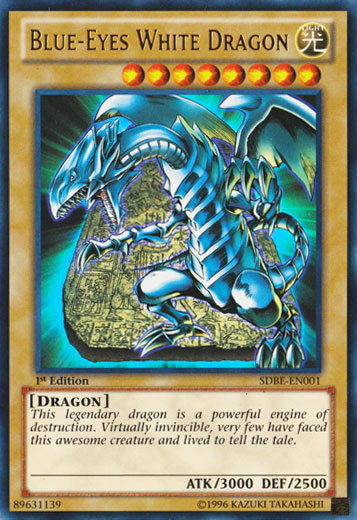 Blue-Eyes White Dragon - SDBE-EN001 - Ultra Rare - 1st