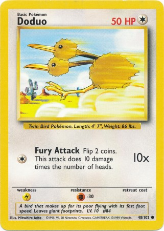 Doduo - 48/102 - Common - Unlimited Edition