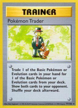 Pokemon Trader - 77/102 - Rare - Unlimited Edition