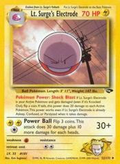 Lt. Surge's Electrode - 52/132 - Uncommon - Unlimited Edition