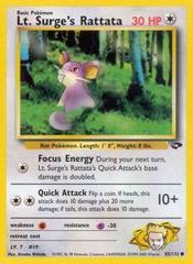 Lt. Surge's Rattata - 85/132 - Common - Unlimited Edition on Channel Fireball