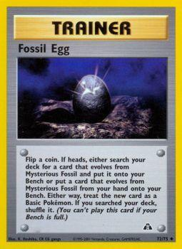 Fossil Egg - 72/75 - Uncommon - Unlimited Edition