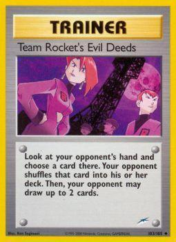 Team Rockets Evil Deeds - 103/105 - Uncommon - Unlimited Edition